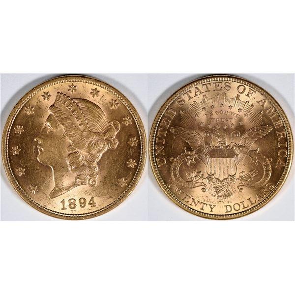 Liberty Head 1894 U. S. $20 Gold Piece  [136186]