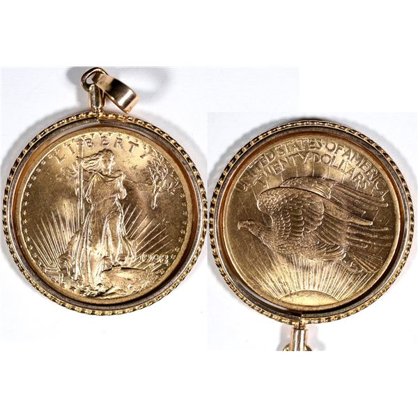 Saint Gaudens $20 U.S. Gold Piece with Bezel  [136185]
