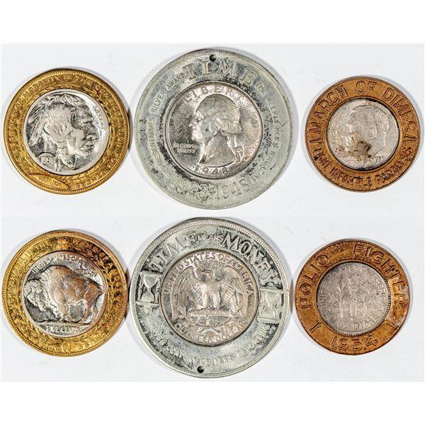 Encased Nickel, Dime & Quarter  [141014]