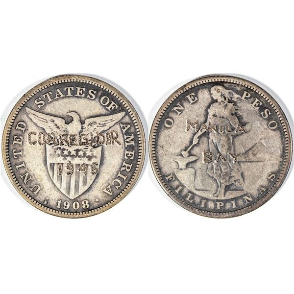 Counterstamped One Peso Silver  [141006]