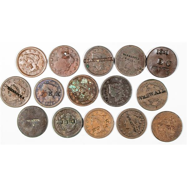Counterstamped Large Cent Collection  [140805]