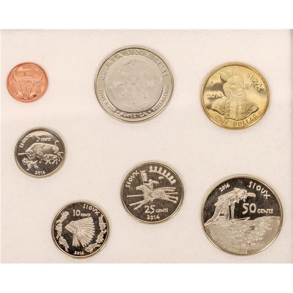 Oglala Sioux Tribe Proof Coin Set (7 coins)  [140727]