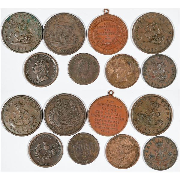 Early Canadian Tokens and Pennies  [140802]