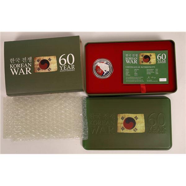 Niue 2010 2$ Korean War 60th Anniversary .999 1oz Silver Coin  [140706]