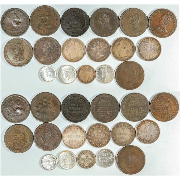 British Colony Coins & Tokens  [139001]