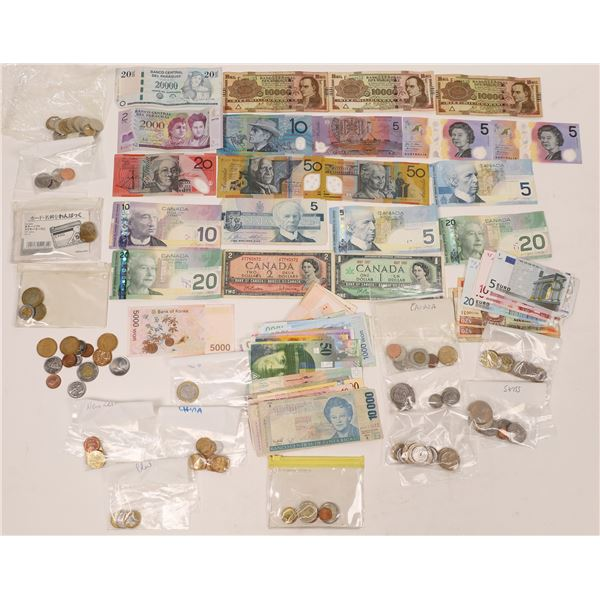Foreign Coin and Currency Collection  [140174]