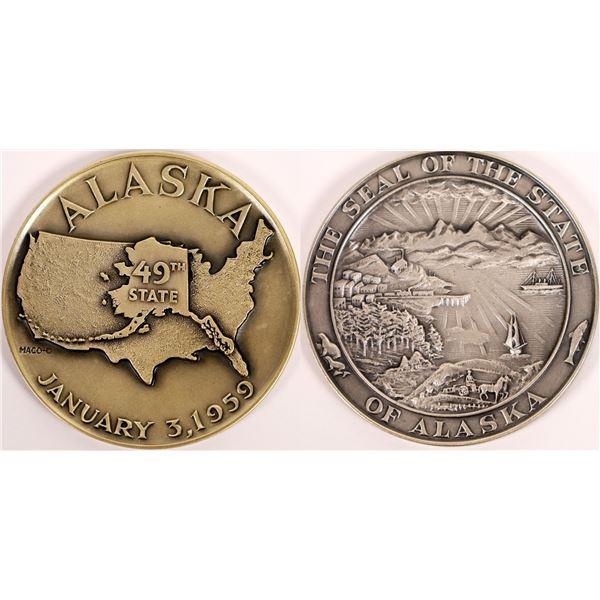 Sterling Silver Alaska Statehood Medal  [140157]