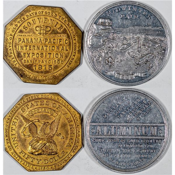 California So-Called Dollars: 1894 Mid Winter Fair HK-259/1915 Panama Pacific Exposition HK-424