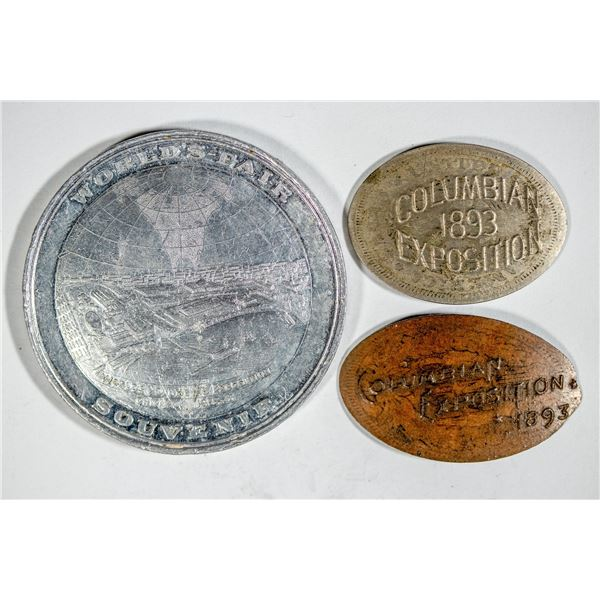 World's Columbian Expo HK-174/Elongated Coins and a Medal  [140685]