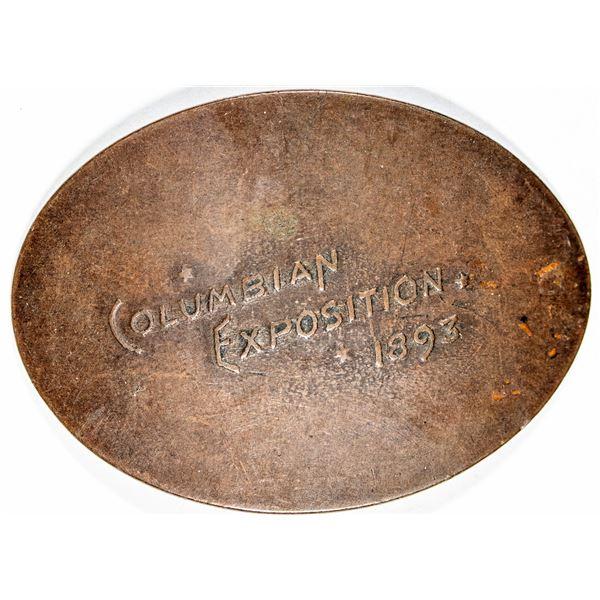 Columbian Exposition 1893 Elongated Copper Piece  [136253]