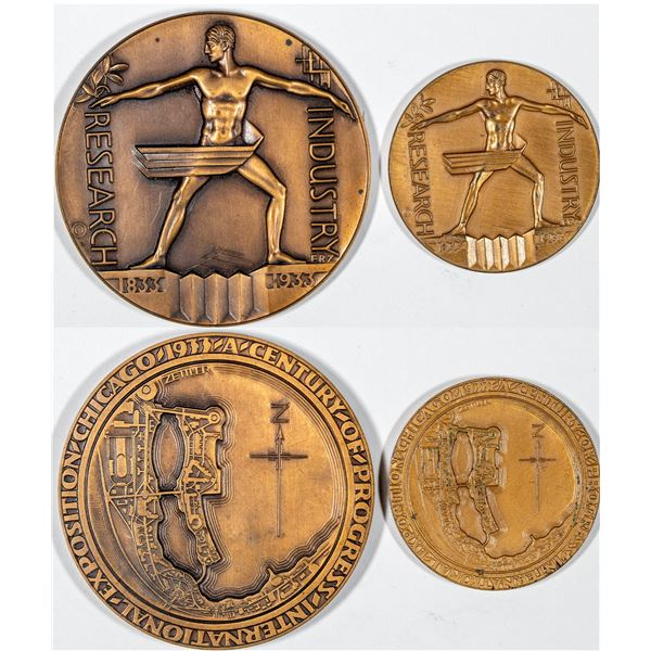 Century of Progress Exposition 1933-1934 HK-463 and Larger Medal  [136242]