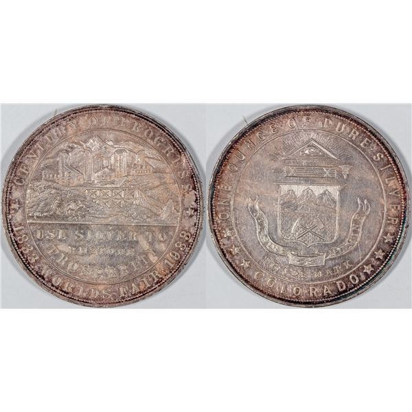 Century of Progress Silver Medal HK 870  [136241]
