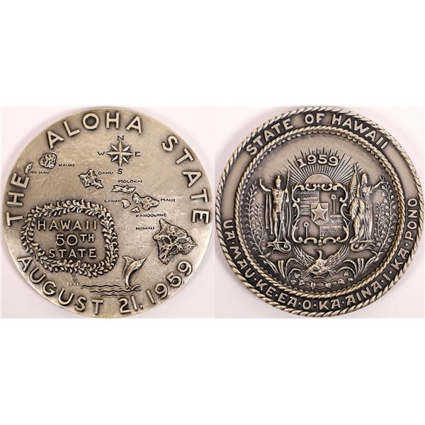 Sterling Silver Official Statehood Medal of Hawaii   [140161]