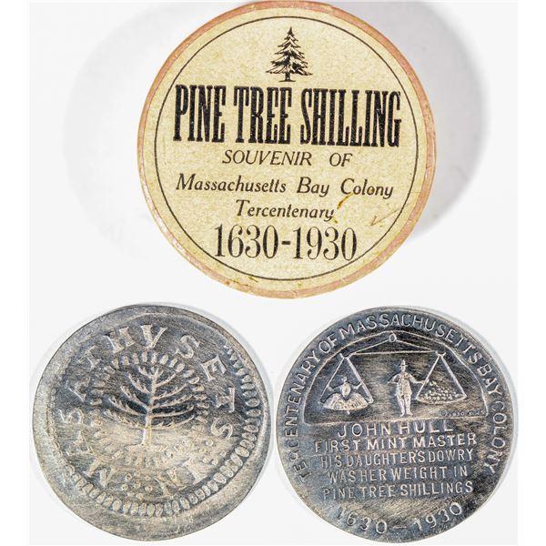 Pine Tree Shilling Souvenir of Massachusetts Bay Colony Tercentenary  [141016]