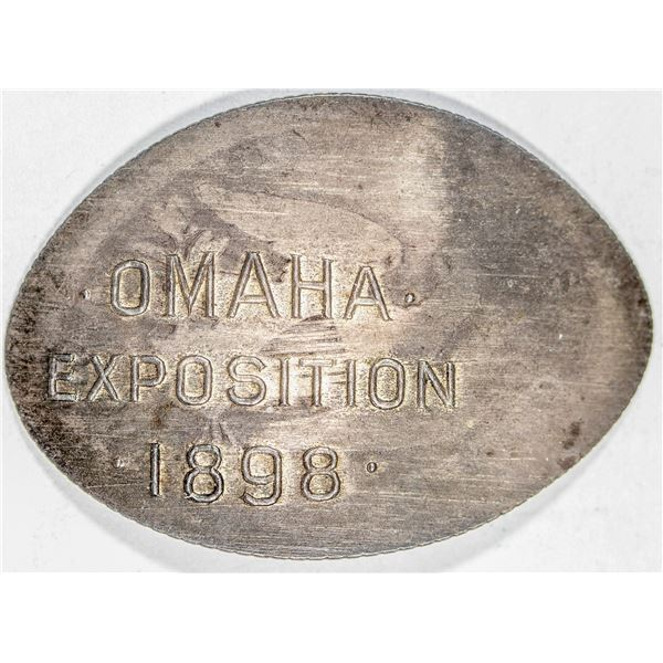 Trans-Mississippi Exposition Elongated 1854 Liberty Seated Quarter  [136252]