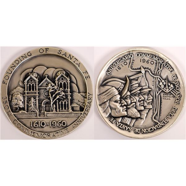 Sterling Silver Founding of Santa Fe 350th Anniversary Medal  [140158]