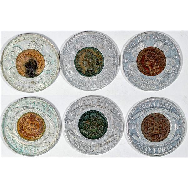 Pan American Exposition Encased Indian Head Pennies  [136247]