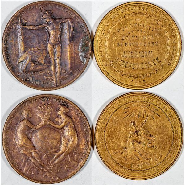 So Called Dollars: 1876 Centennial HK-22/1915 Panama Pacific Exposition HK-400  [136255]