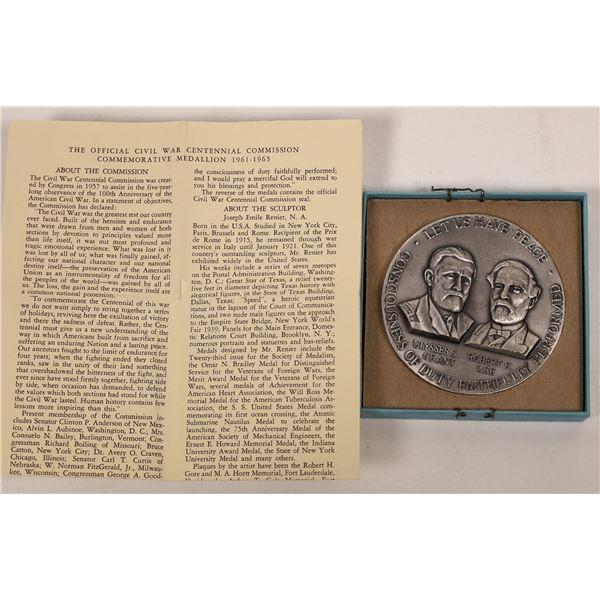 Civil War Centennial Commission Commemorative Medallion  [140155]