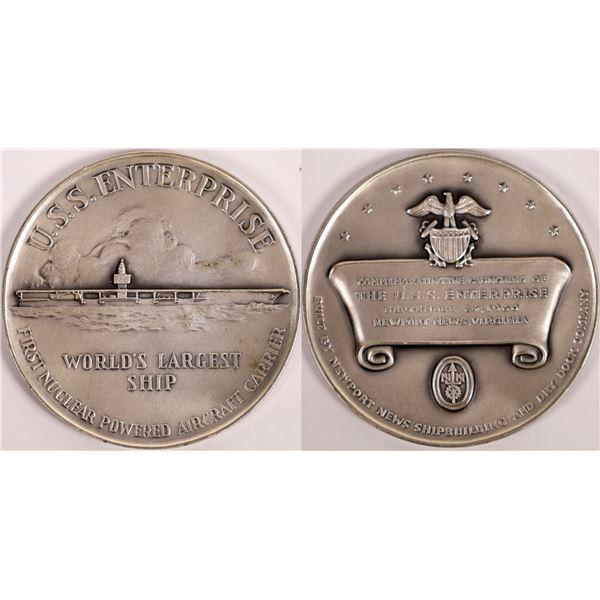 U.S.S. Enterprise Official Launching Silver Medal  [140160]