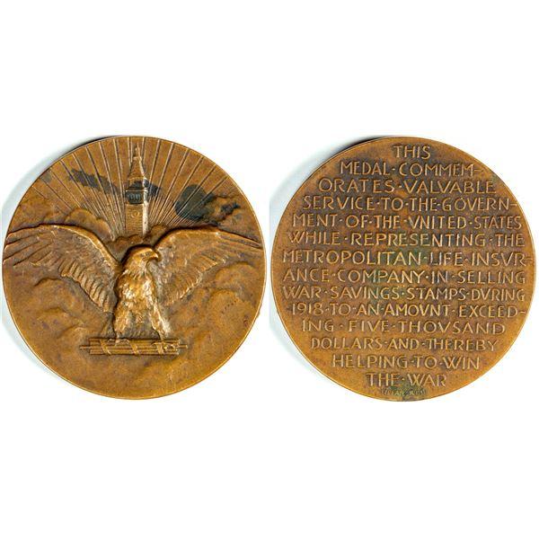World War One Bronze Medal by Tiffany  [139009]