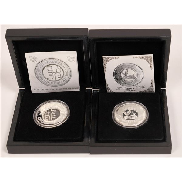 Dragon & Rabbit Filigree Collector Coins, China  [141172]