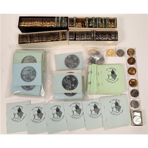 Guam Medallion Hoard ~ 272 pieces  [140410]