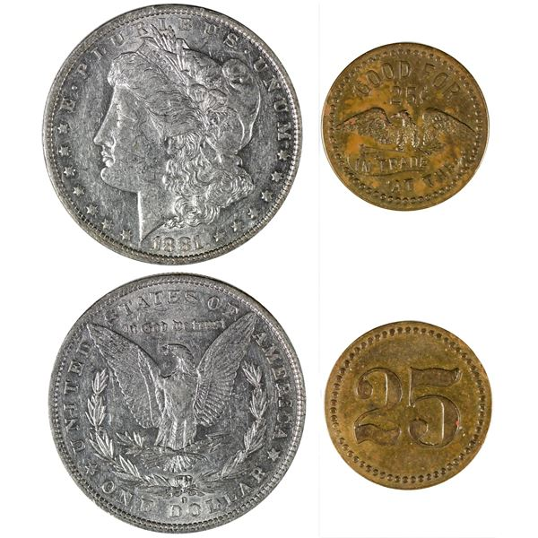 Two Tombstone, AZ Coin Finds  [140455]