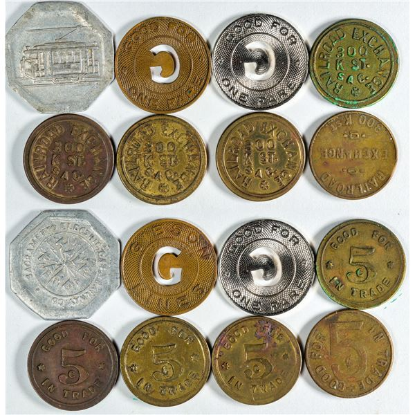 Railroad Related Tokens from Sacramento  [138739]