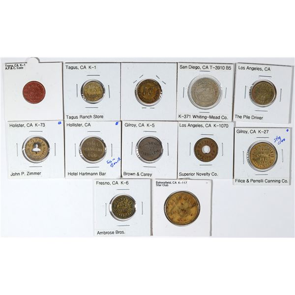 Central and Southern California Token Collection  [136172]