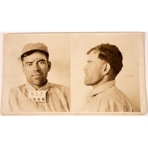 Nevada State Prison Token/Scrip w/ Mugshot of Prisoner  [138712]