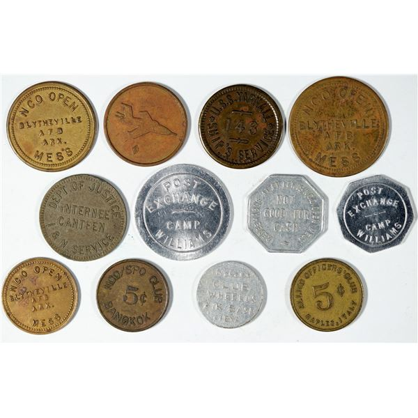 Military Post Exchange and NCO Mess Token Collection  [141191]