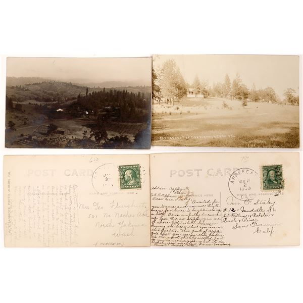 Sonora Pass at Applegate Real Photo Postcards  [130280]
