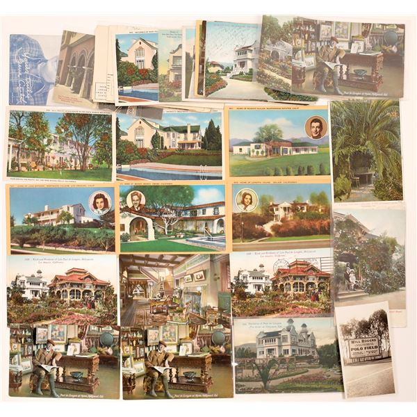 Hollywood, Homes of the Stars, Postcard Collection  [130429]