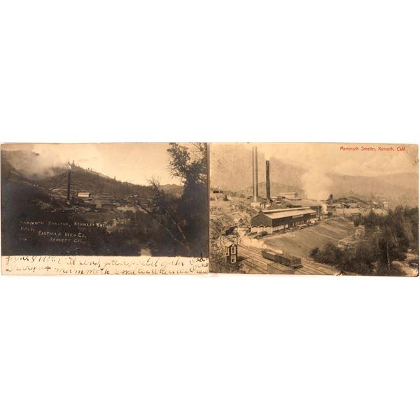 Kennett Mammoth Smelter (now beneath Shasta Lake) Post Cards (2)  [138210]