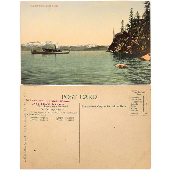 Steamship at Rubicon Point Color Postcard  [139972]