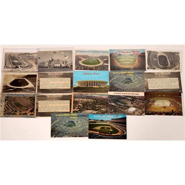 Dodger Stadium and Olympic Stadium Postcard Collection  [139093]