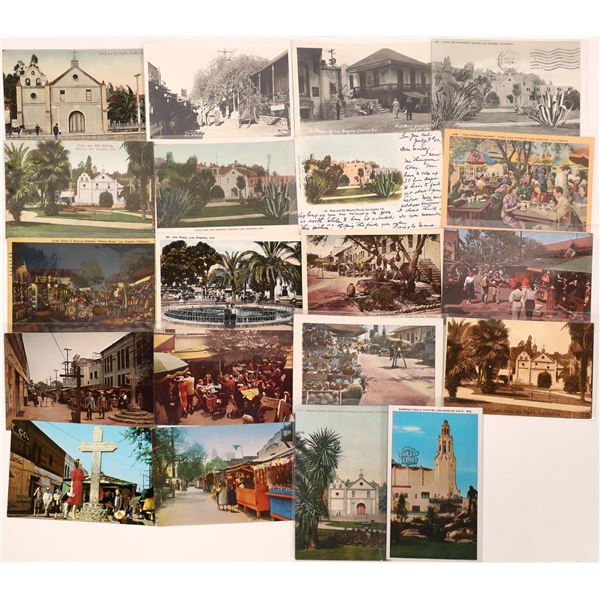 Los Angeles Church and Mission Plaza Postcard Collection  [139100]