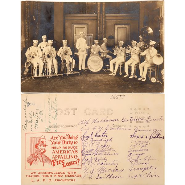 Los Angeles Fire Department Orchestra Early RPC – members are identified  [139098]
