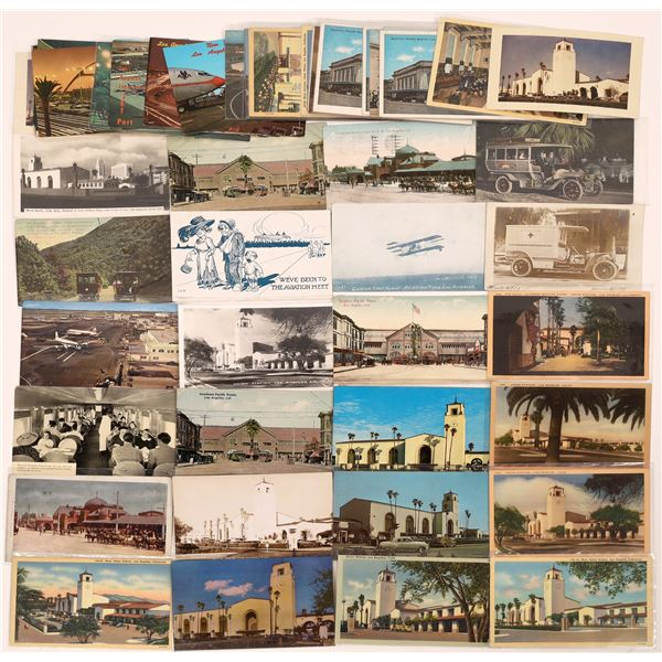 Los Angeles Railroad, Trolley, Airport, etc. Postcard Collection  [139102]