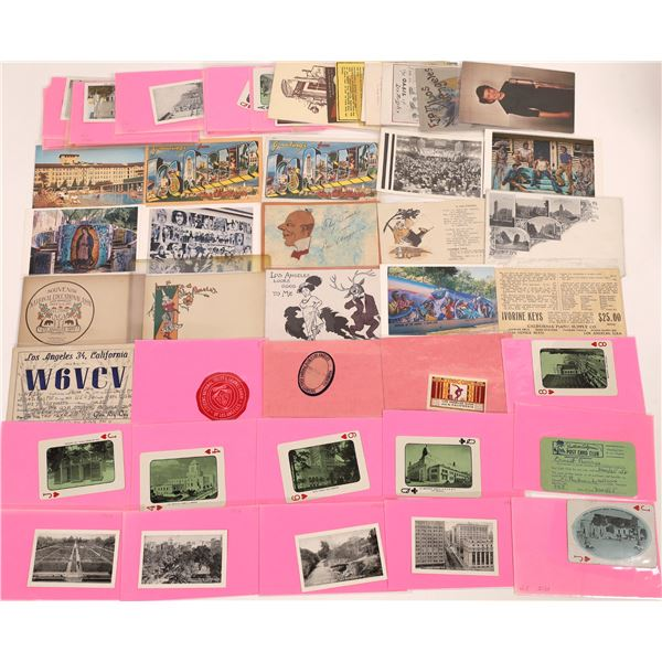 Los Angeles Specialty Postcard and Ephemera Collection (50+)  [139099]
