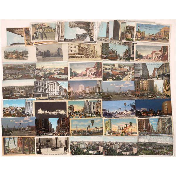 Los Angeles Street Scenes and Birds Eye Postcard Collection  [139101]