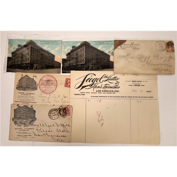 Hotel Nadeau Los Angeles in Post Cards and Letters  [138400]