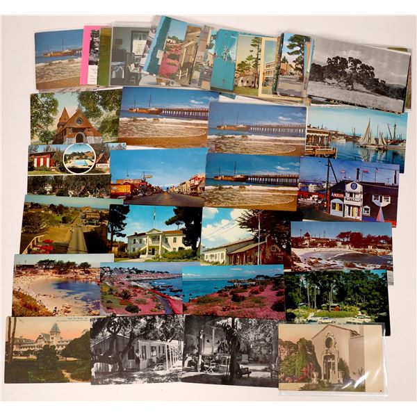 Monterey County Modern Post Card Collection (approx. 80 pieces) w/Early Autochrome Card  [138216]