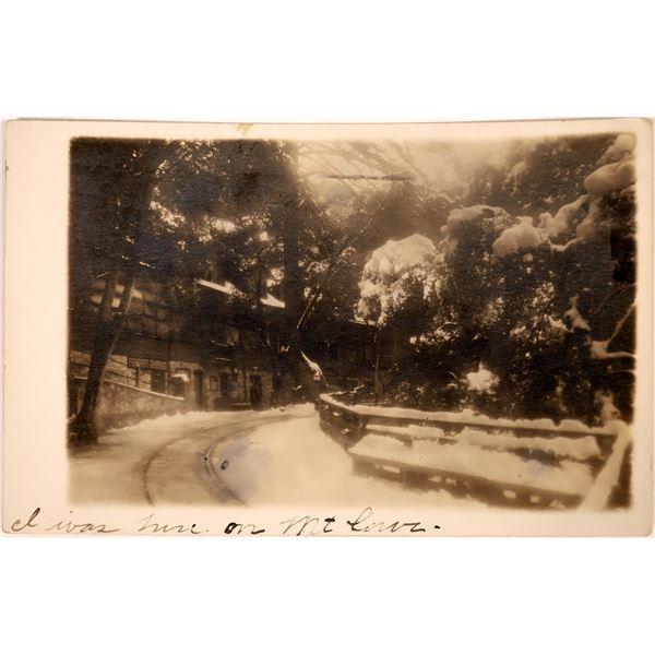Mount Lowe Early B&W RPC – Winter Scene  [130436]