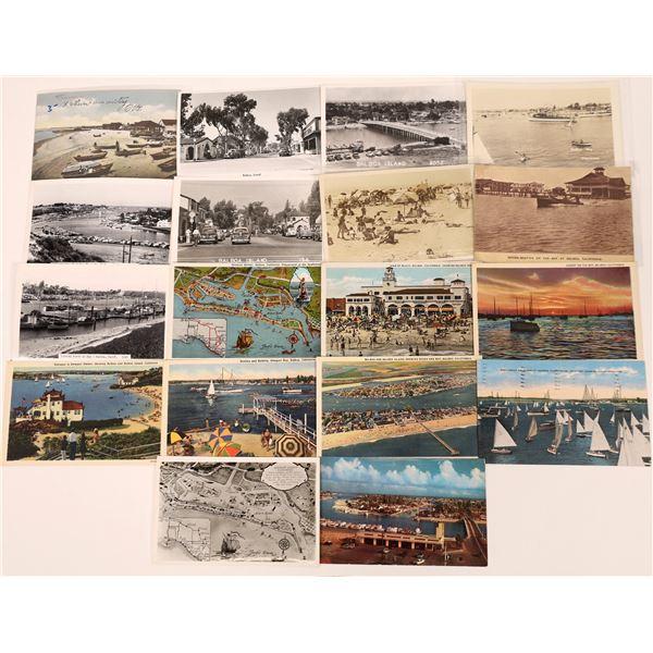 Balboa Island in Newport Harbor, CA Post Card Collection (18)  [139049]