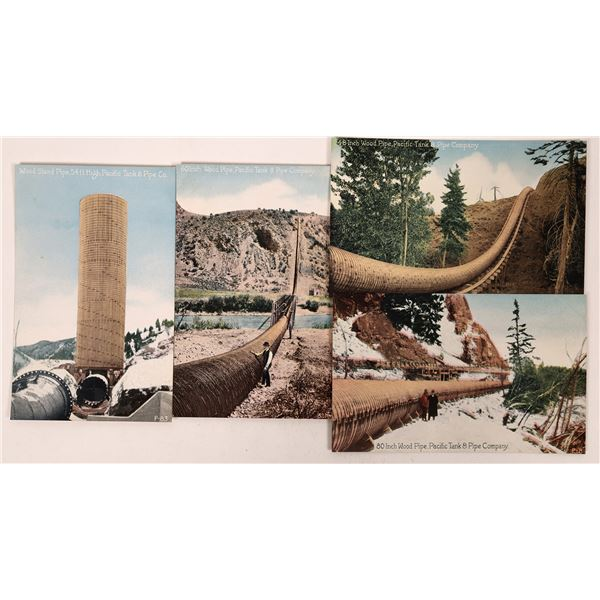 Four Different Postcard Views of the Pacific Pipes Tank & Pipe Company  [130282]
