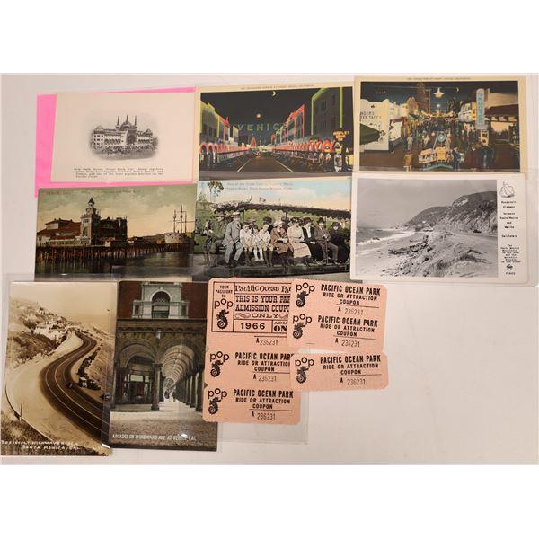 Pacific Ocean Park Postcard and Ephemera Group  [130438]