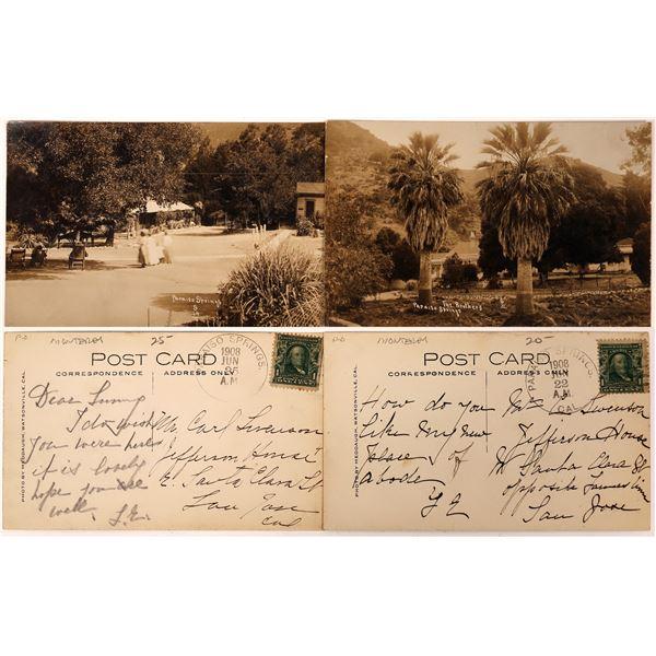 Two Nice Views of Paraiso Springs (postcards)  [130281]
