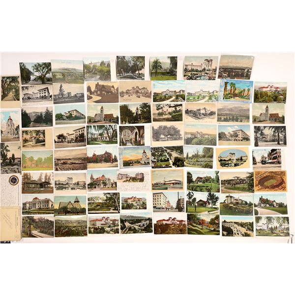 Pasadena Vintage Post Card Collection (approx. 105 pieces) including 1884 First Year Postal Card